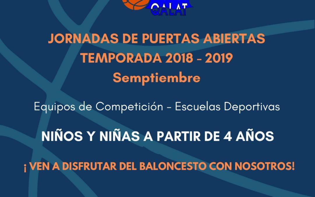 Jornadas de puertas abiertas temporada 2018-2019