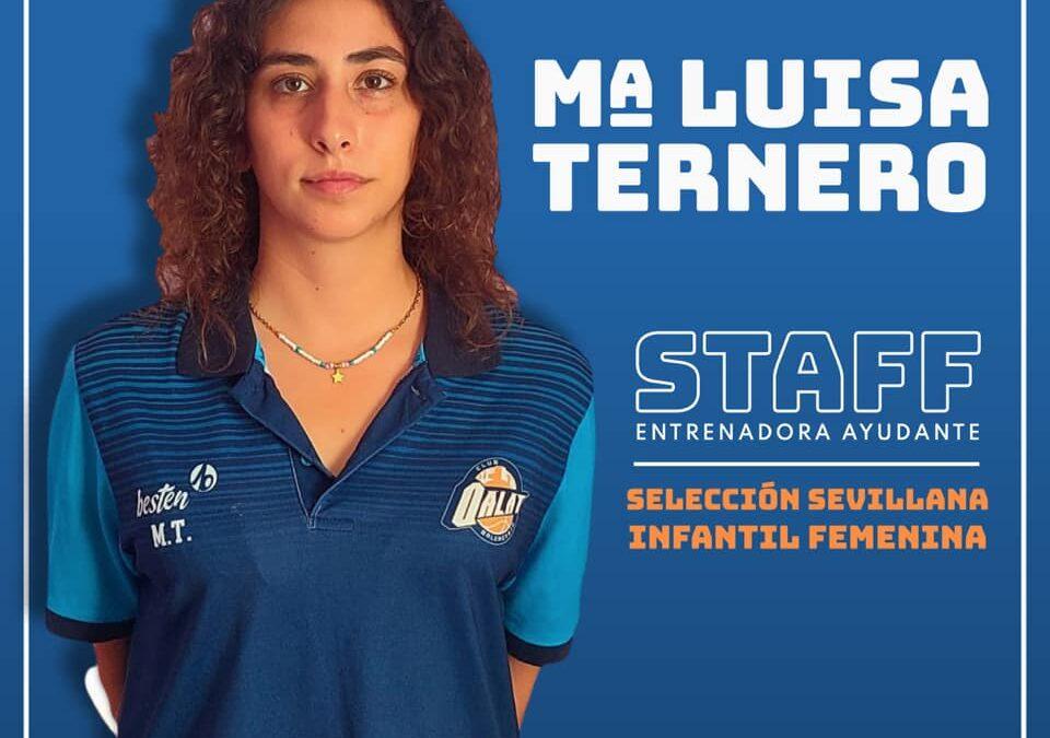 Mª Luisa Ternero, miembro del Staff 🏀 de la Selección Sevillana Infantil Femenina.